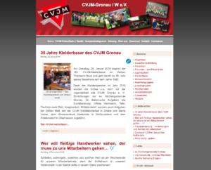 Design der alten Homepage